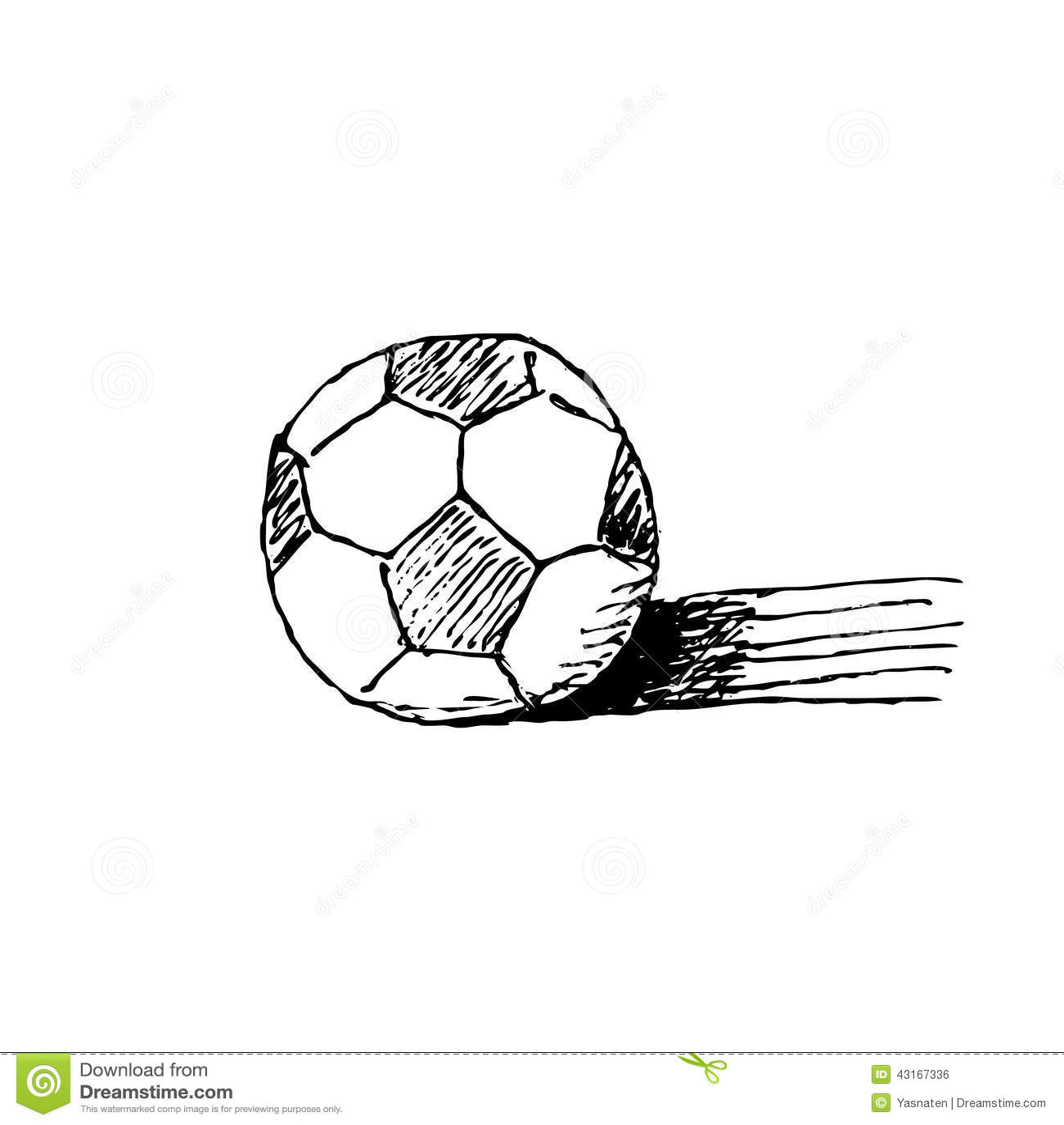 Hand drawn Soccer Ball Stock Vector Image 43167336