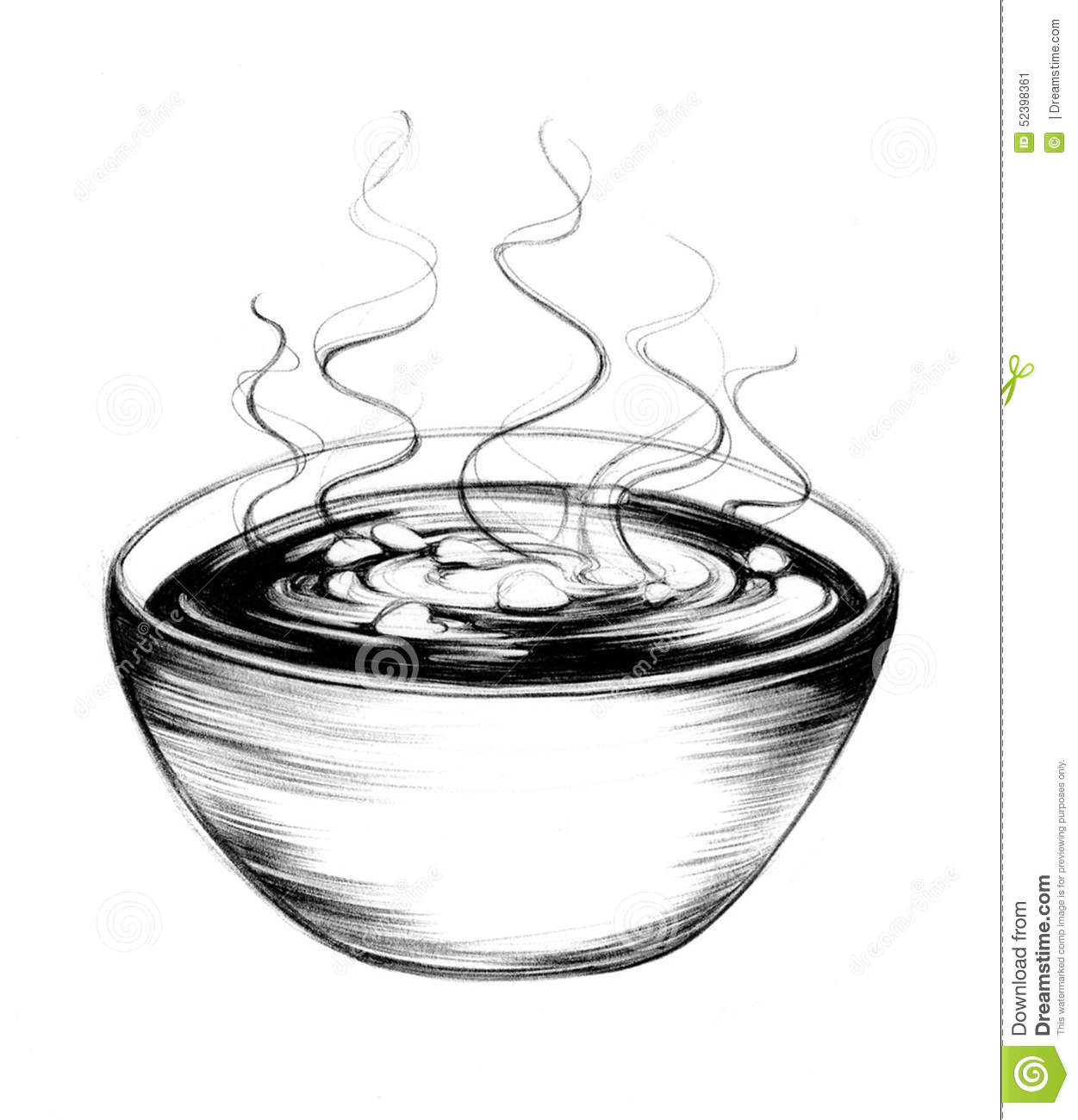 Bowl Of Soup Drawing H...