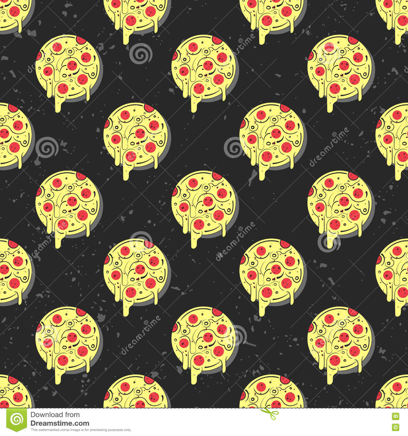repeating pizza background - photo #2