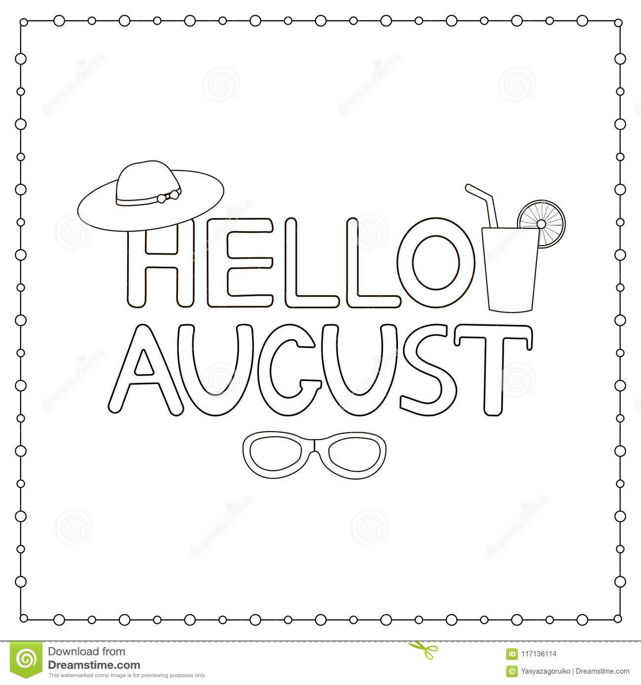 August Coloring Page Stock Illustrations 81 August Coloring Page Stock Illustrations Vectors Clipart Dreamstime