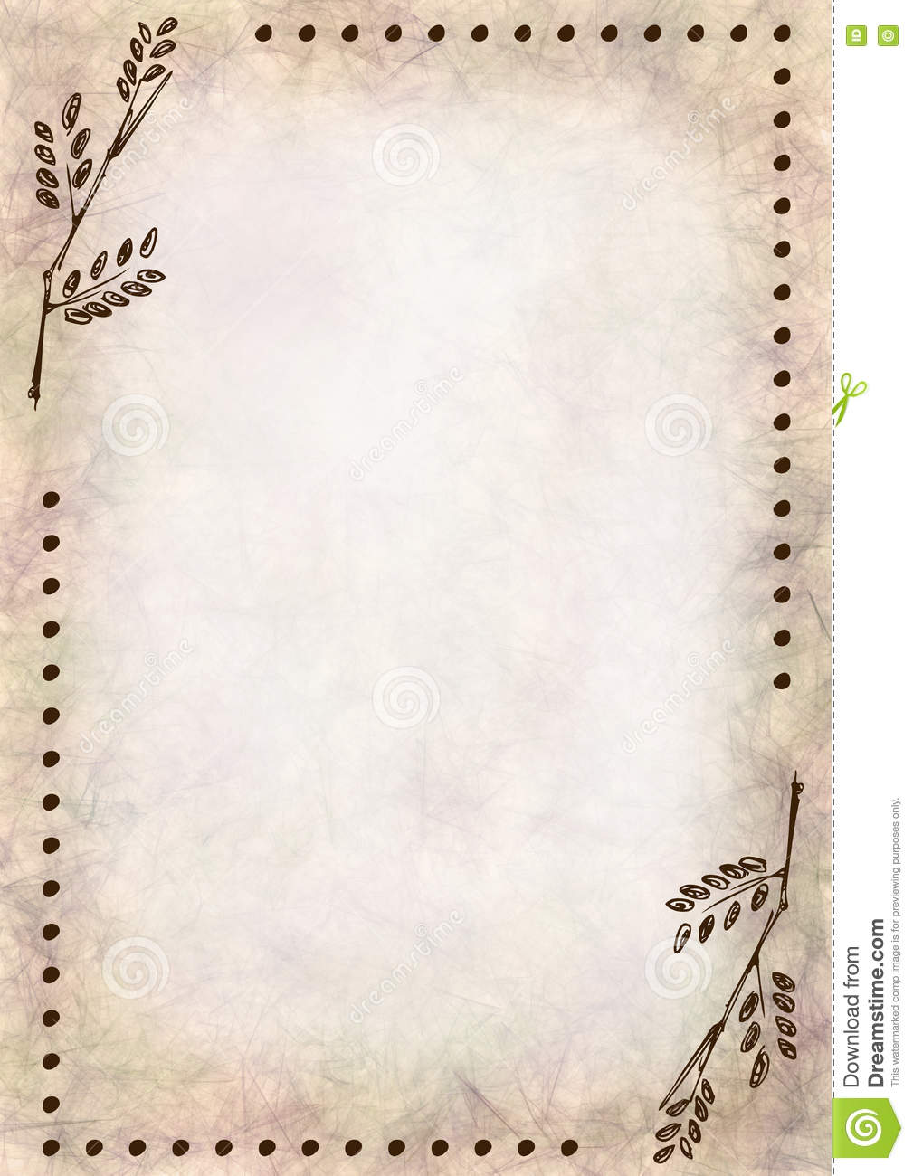 hand drawn textured floral backgroundcrumpled paper with leaves vintage template for letter or
