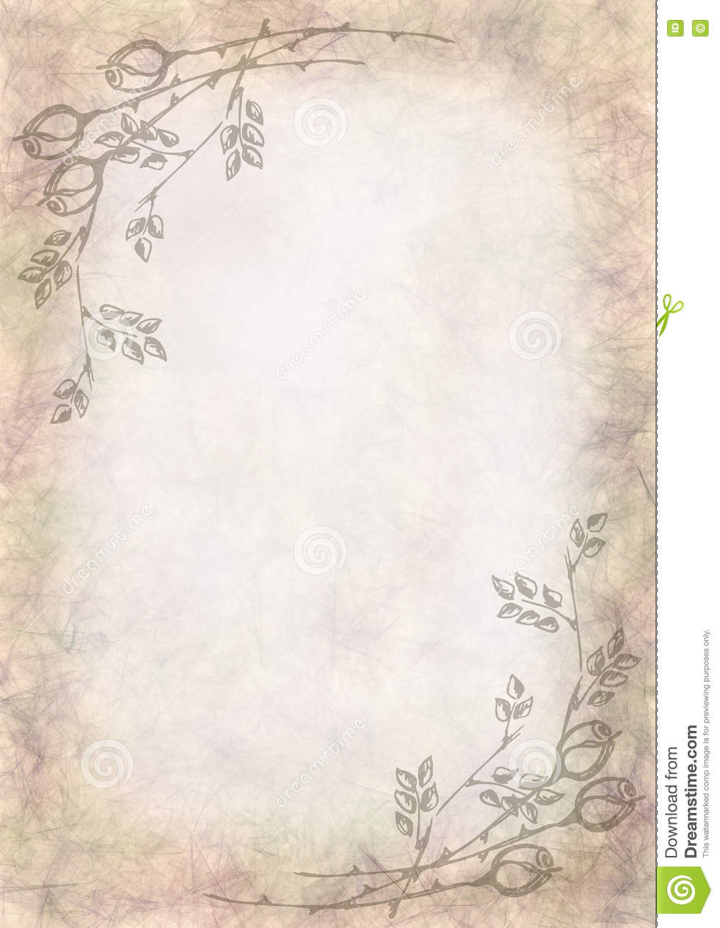 hand drawn textured floral background crumpled paper with rose and