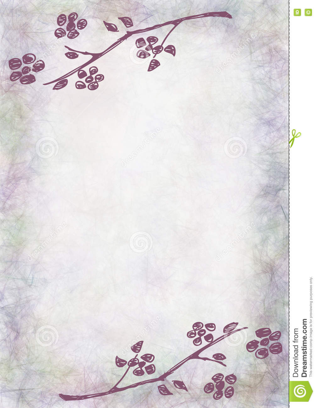 hand drawn textured floral background vintage card with flowers and