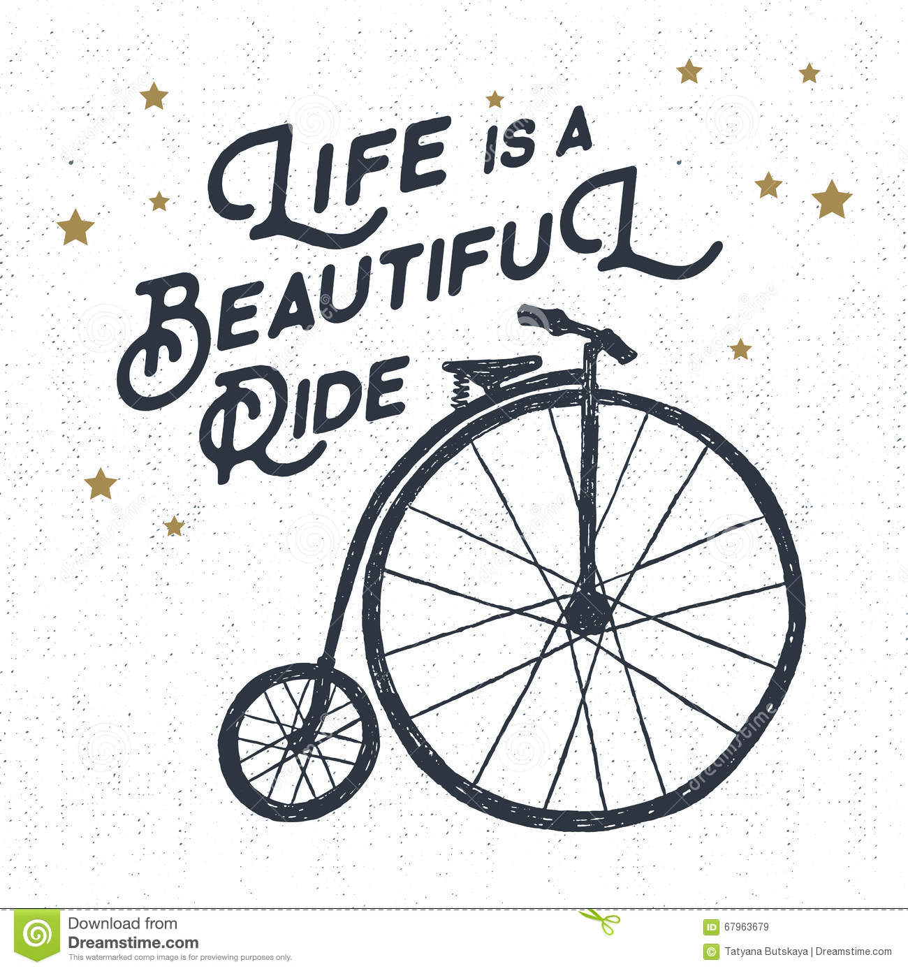 17 Inspiring Wonderful Black And White Contemporary: Life Is A Beautiful Ride Vector