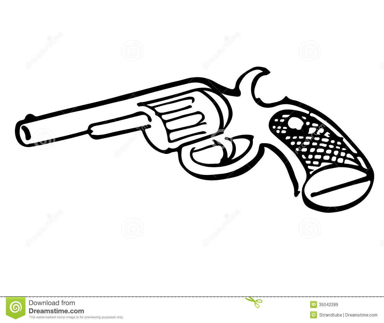 Royalty Free Stock Images Hand Drawn Toy Gun Image 35042289