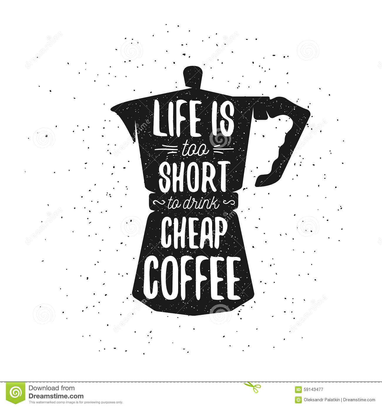 Hand Drawn Typography Coffee Poster Stock Vector Image