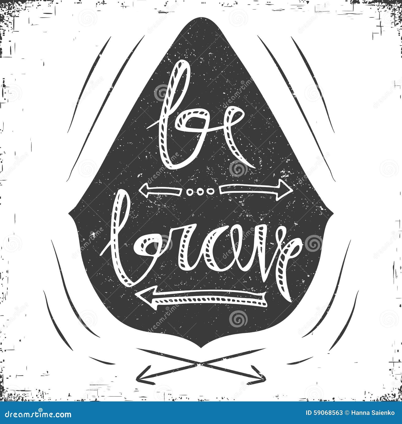 Poster design monochrome - Hand Drawn Typography Poster Stylish Typographic Poster Design With Inscription Be Brave Inspirational Illustration