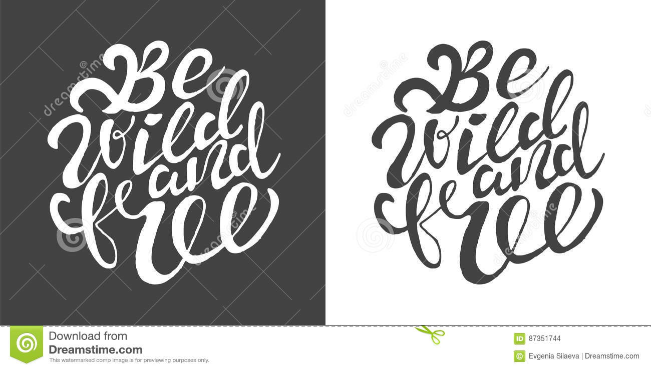 Download Hand Drawn Typography Posters With Brush Lettering Design Quote Stock Vector
