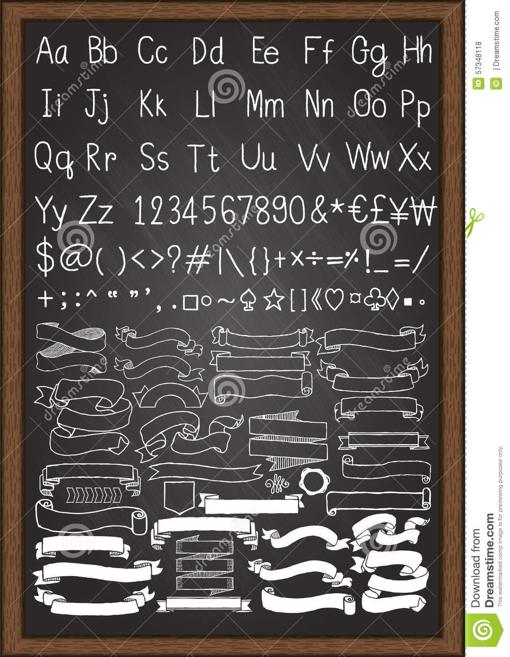 Hand drawn uppercase and lowercase fonts and others symbols on hand drawn uppercase and lowercase fonts and others symbols on keyboard with hand drawn ribbons biocorpaavc Choice Image