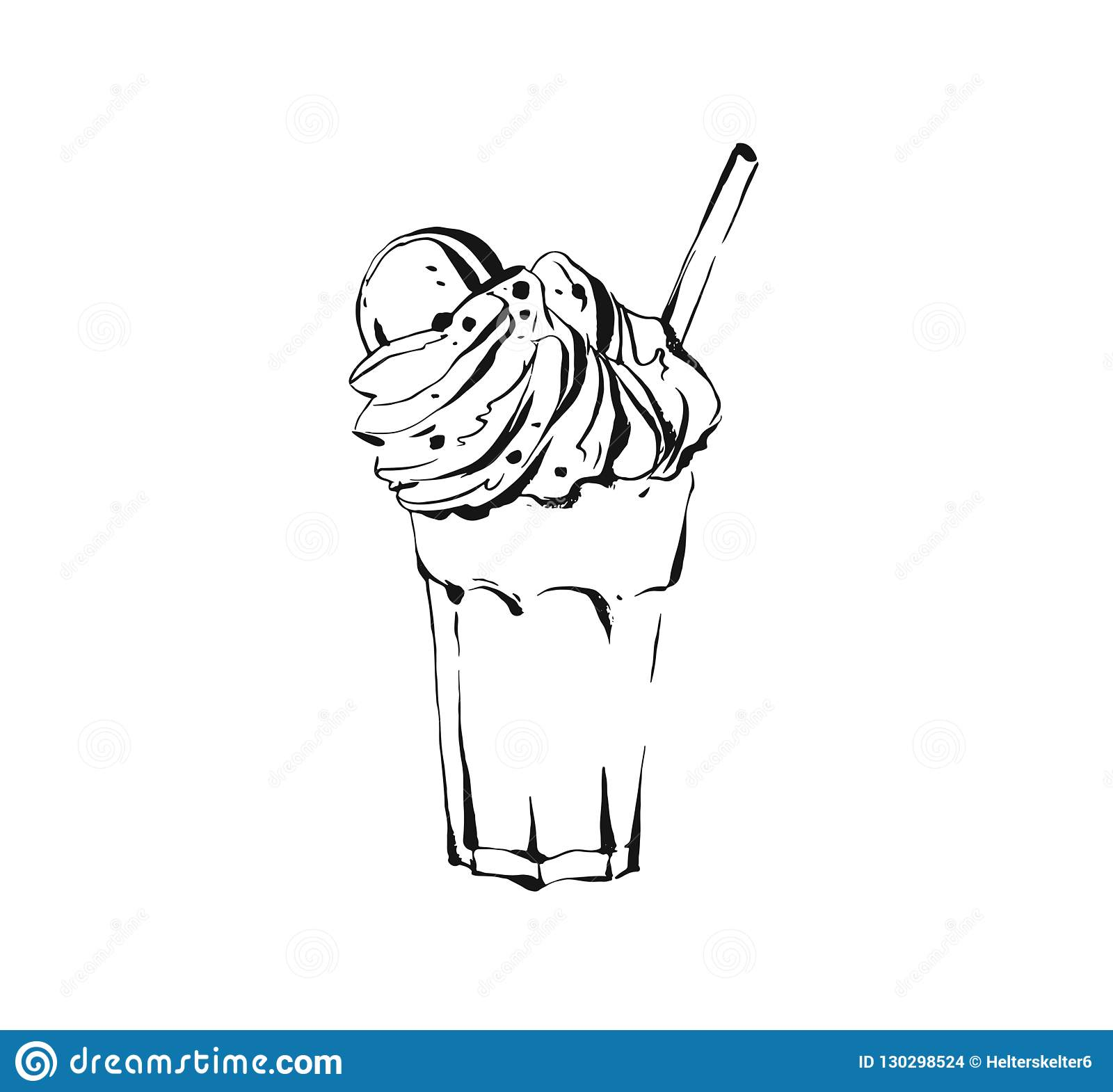Hand Drawn Vector Abstract Artistic Cooking Ink Sketch