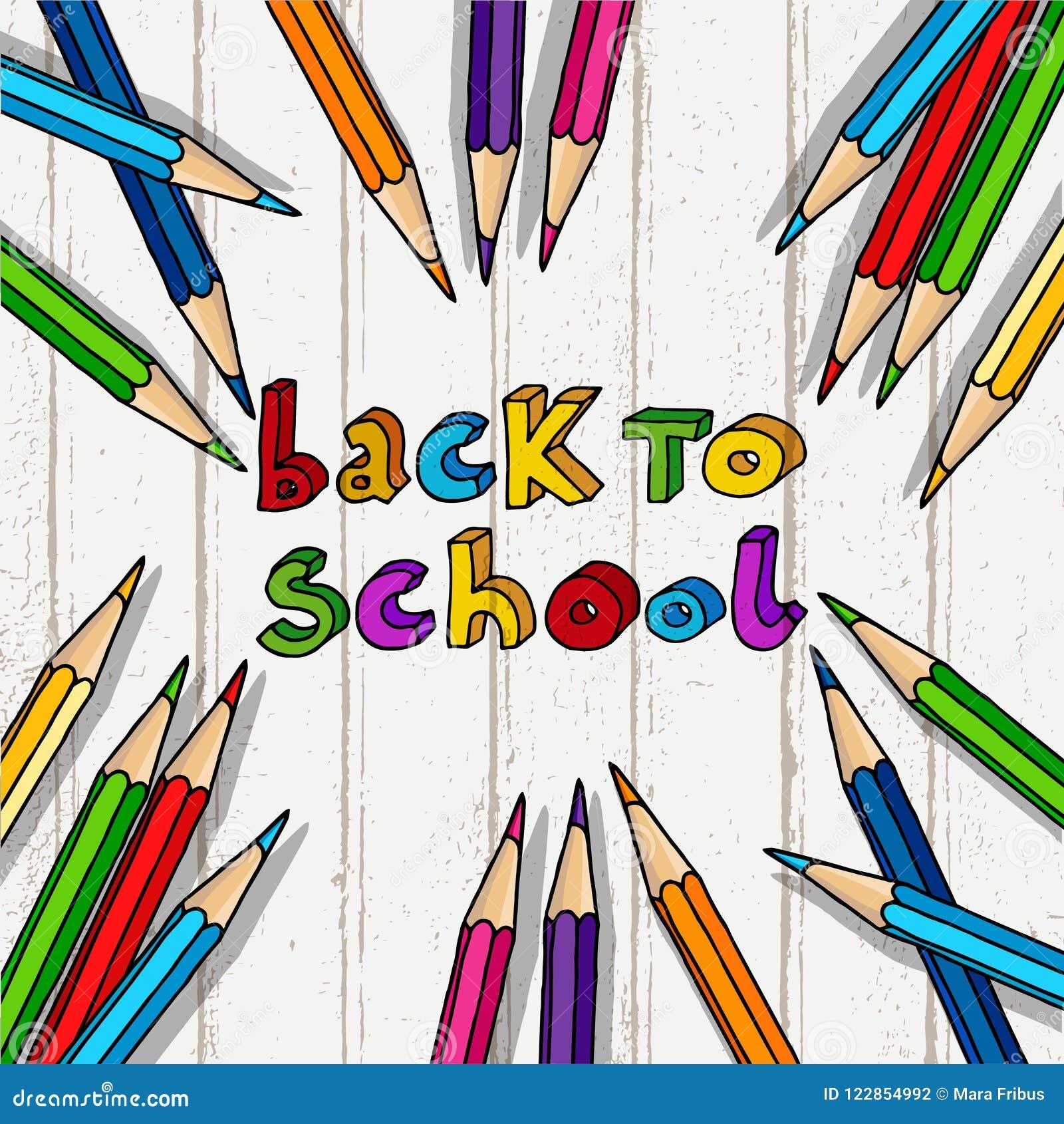 Back To School Greetings Stock Vector Illustration Of Celebration