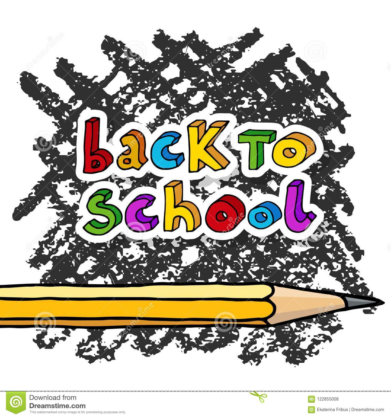 Back To School Greetings Stock Vector Illustration Of Paper 122855008