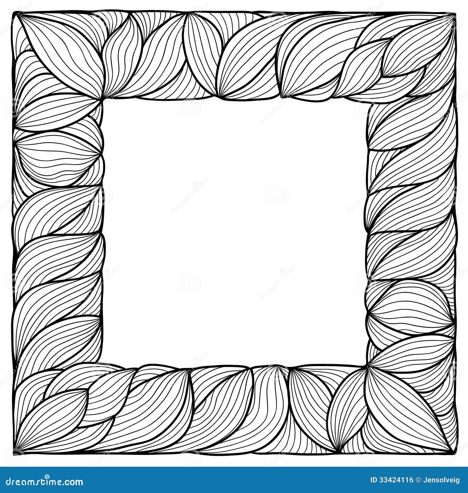 Hand drawn vector frame stock vector. Illustration of invitation ...