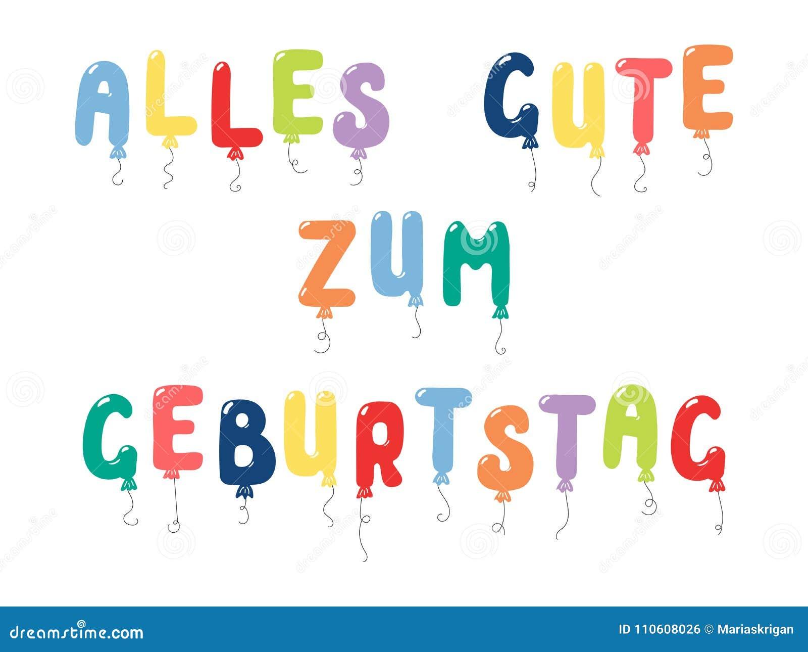 happy birthday german quote