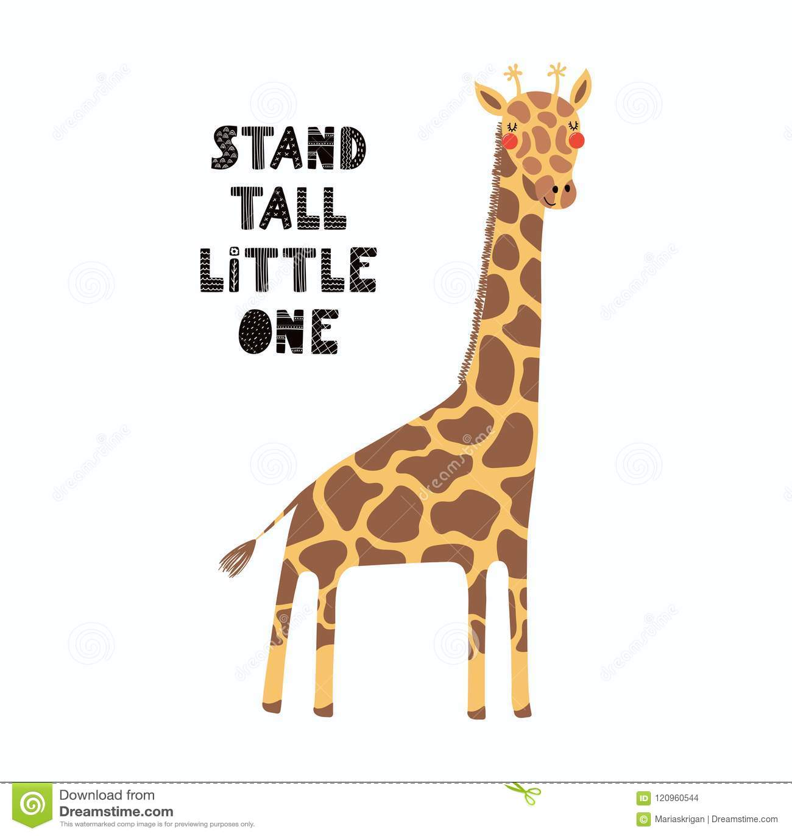 Giraffe Quotes Funny: Cute Giraffe Card Stock Vector. Illustration Of Adventure