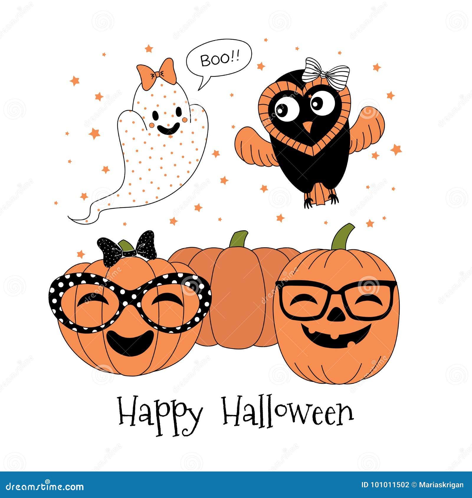Halloween greeting card stock vector illustration of greeting halloween greeting card m4hsunfo