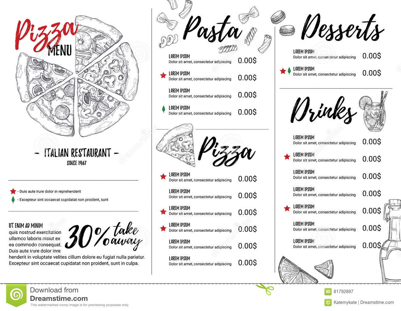 My Chosen Cafe Pizza Menu