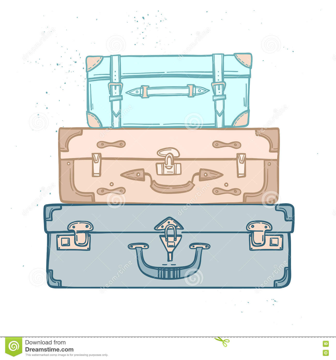 stacked cards cartoons  illustrations   vector stock Stacked Luggage Transparent Backround Stacked Luggage Transparent Backround