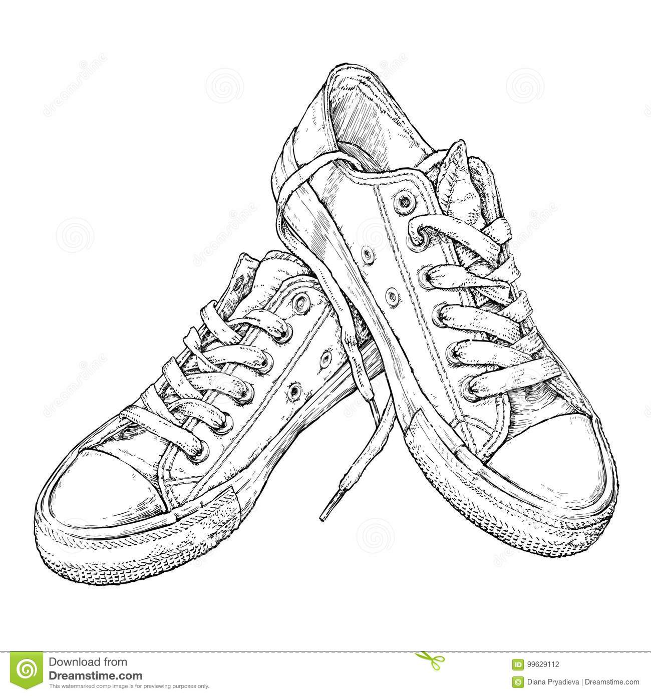 It's just a graphic of Sassy Shoe Drawing Ideas