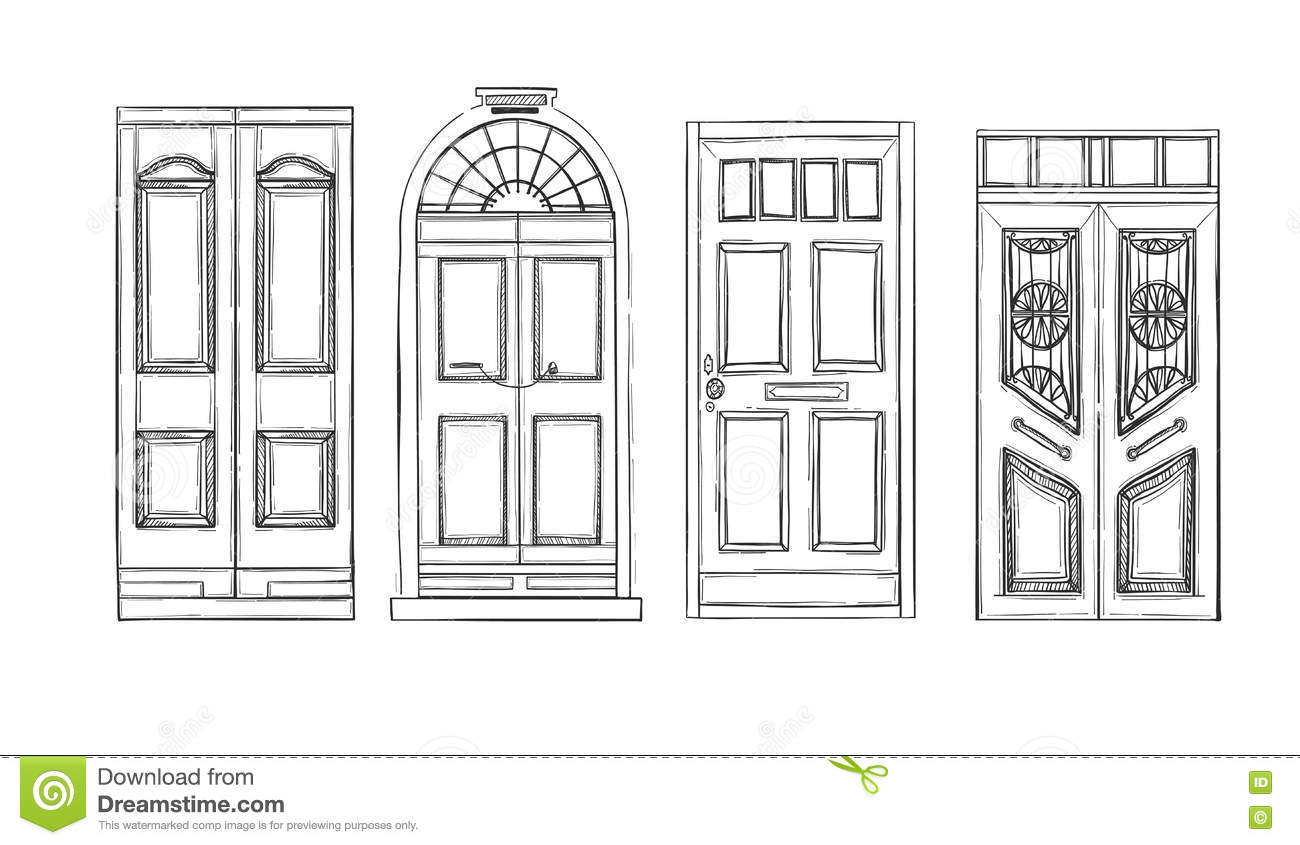 vintage window drawing. royalty-free vector vintage window drawing t