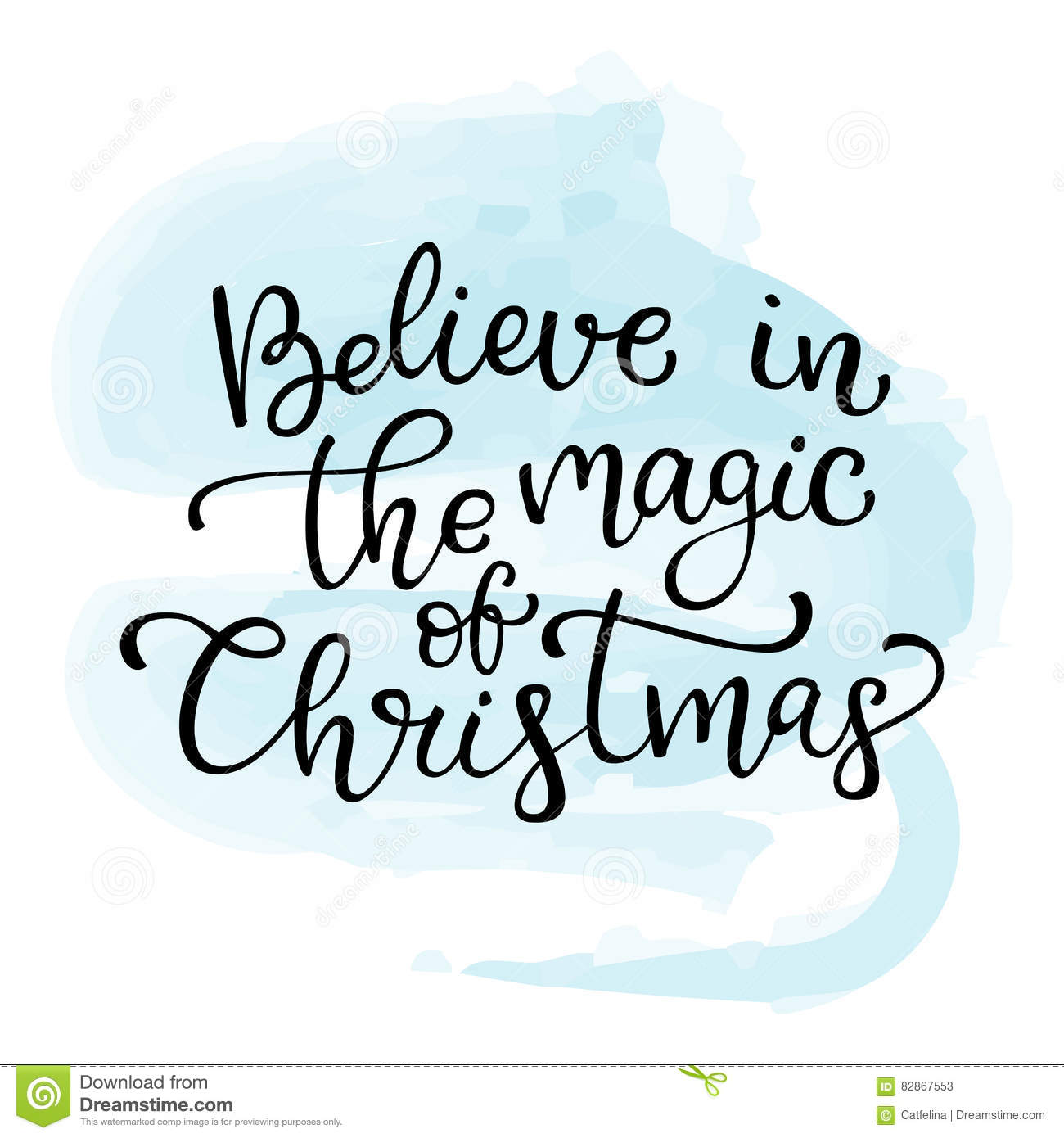Great Hand Drawn Vector Lettering Believe In The Magic Of Christmas. I Pictures Gallery