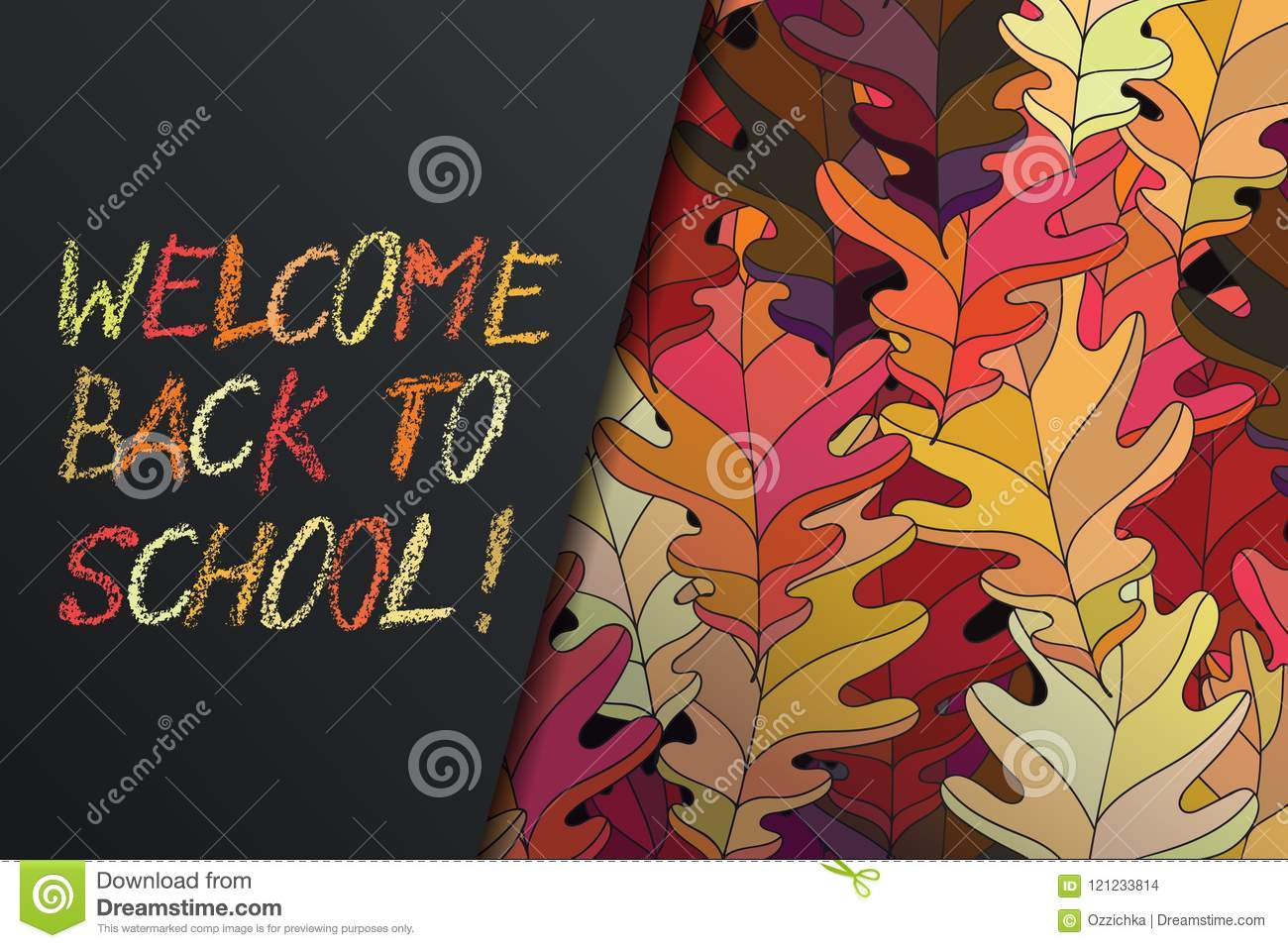Hand Drawn Vector Lettering Words Welcome Back To School By Hand In