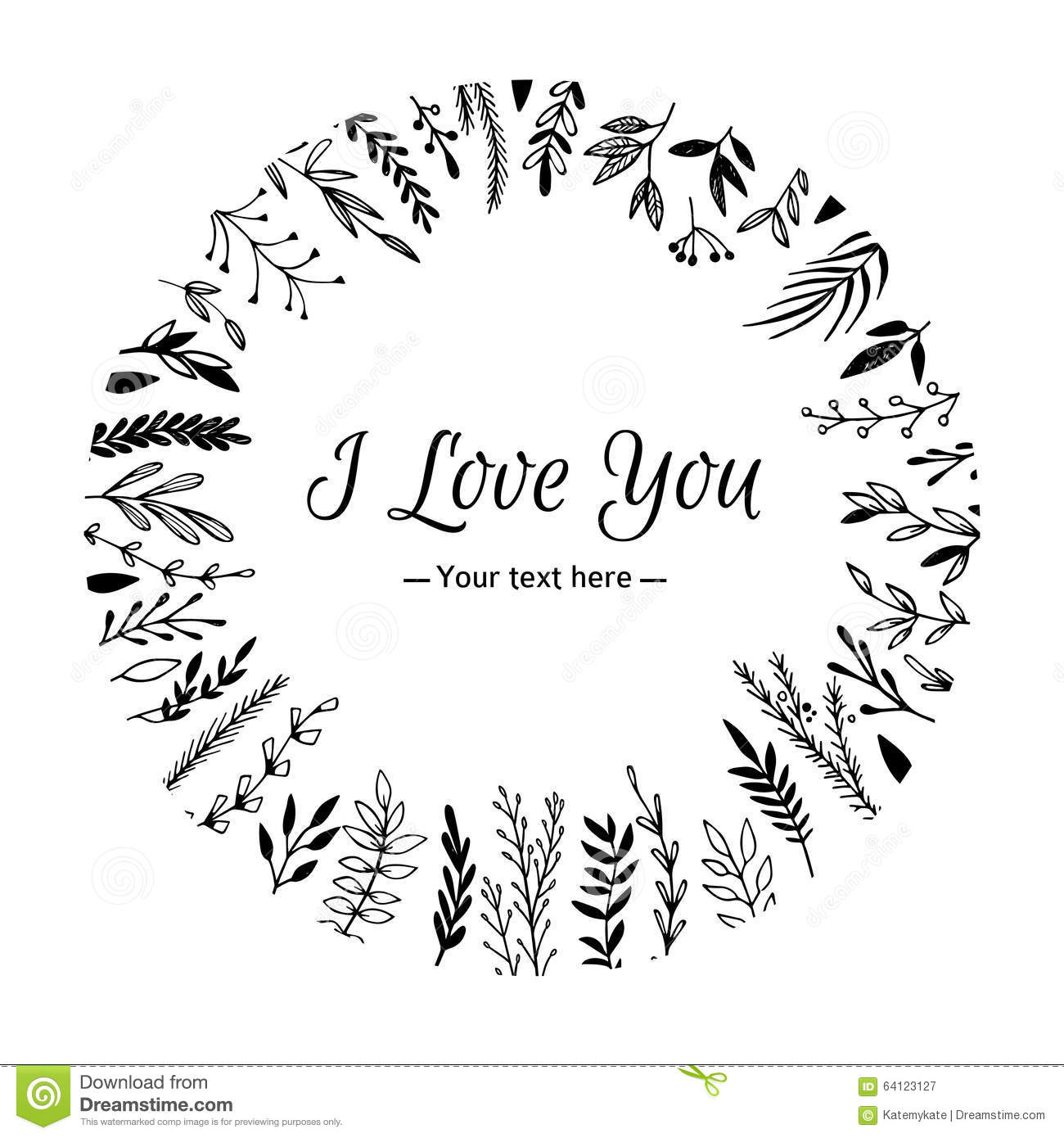 Free I Love You Quotes Hand Drawn Vector Vintage Illustration  I Love You Card Stock