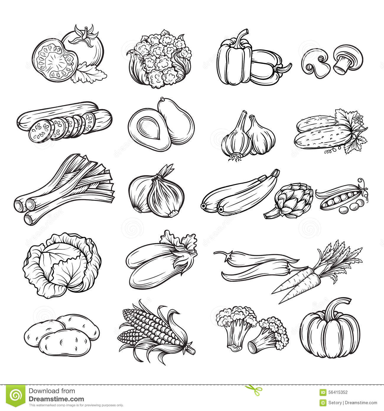 Line Art Vegetables : Vegetable drawing imgkid the image kid has it