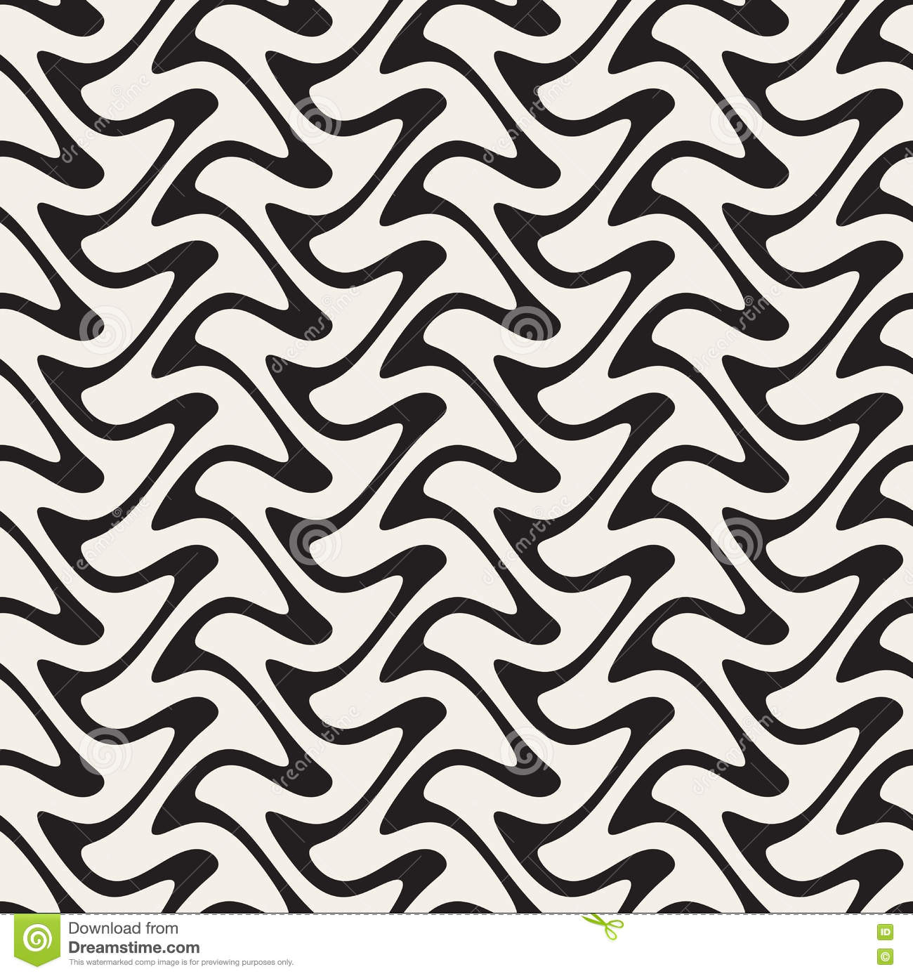 Hand Drawn Vertical ZigZag Lines  Abstract Geometric