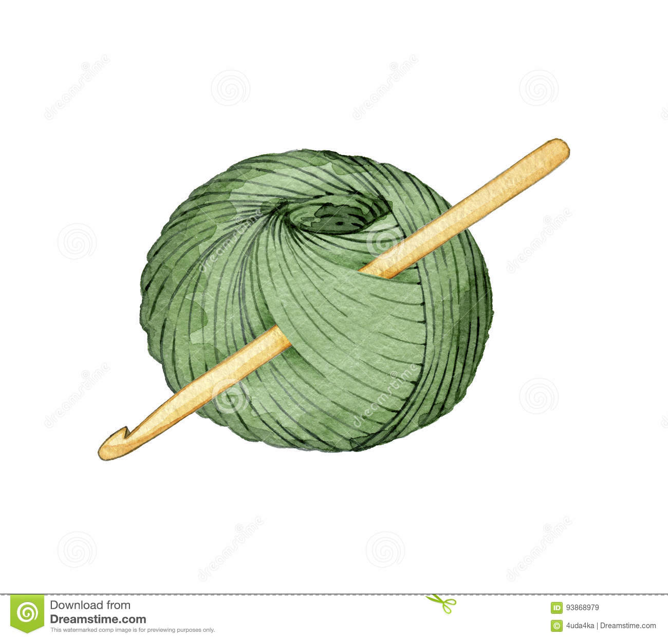 Free Knitting Icons Clipart : Wool ball crochet hook stock illustrations