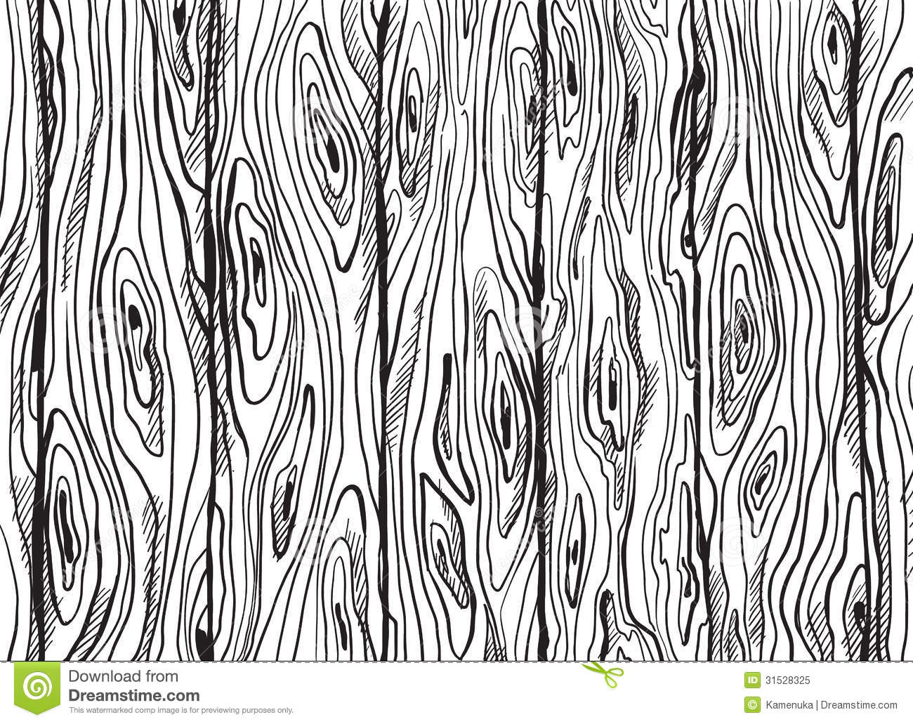 Wood Plank Drawing ~ Hand drawn wooden texture stock vector illustration of