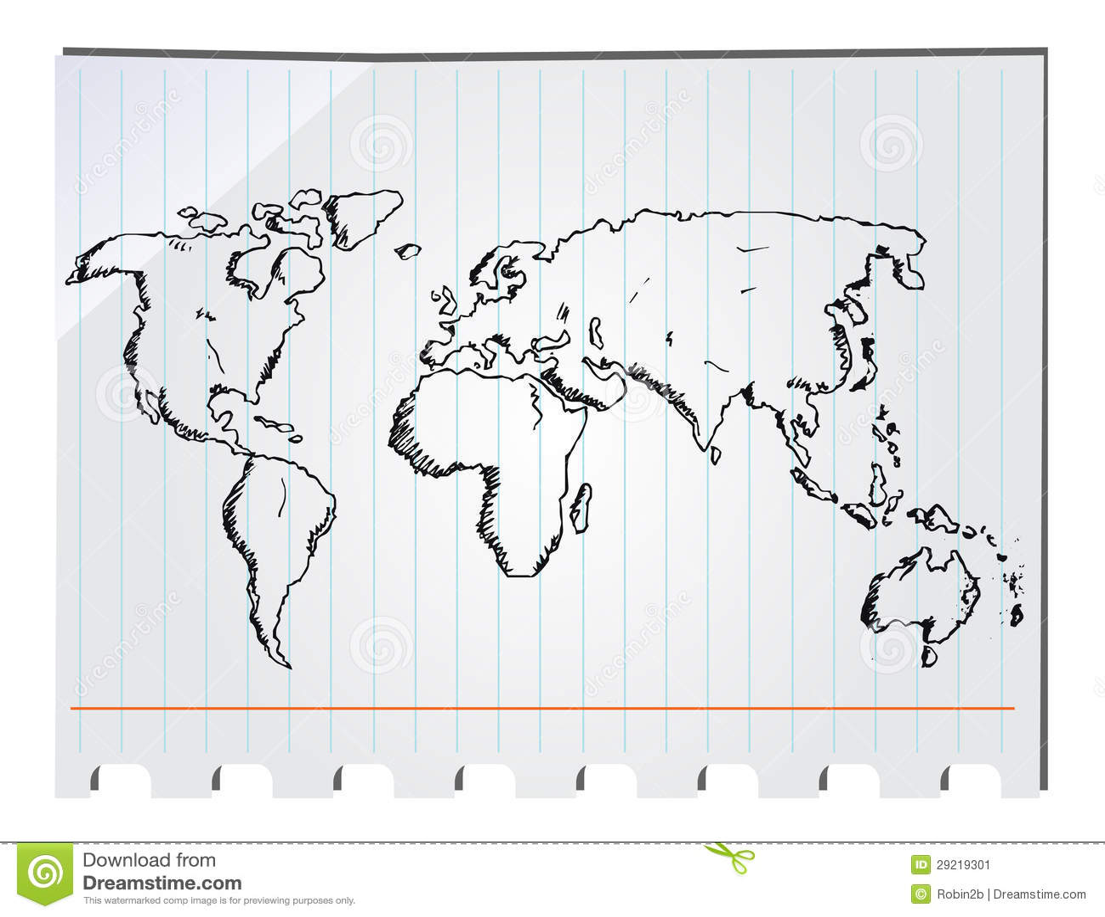 Hand drawn world map illustration 29219301 megapixl gumiabroncs Images