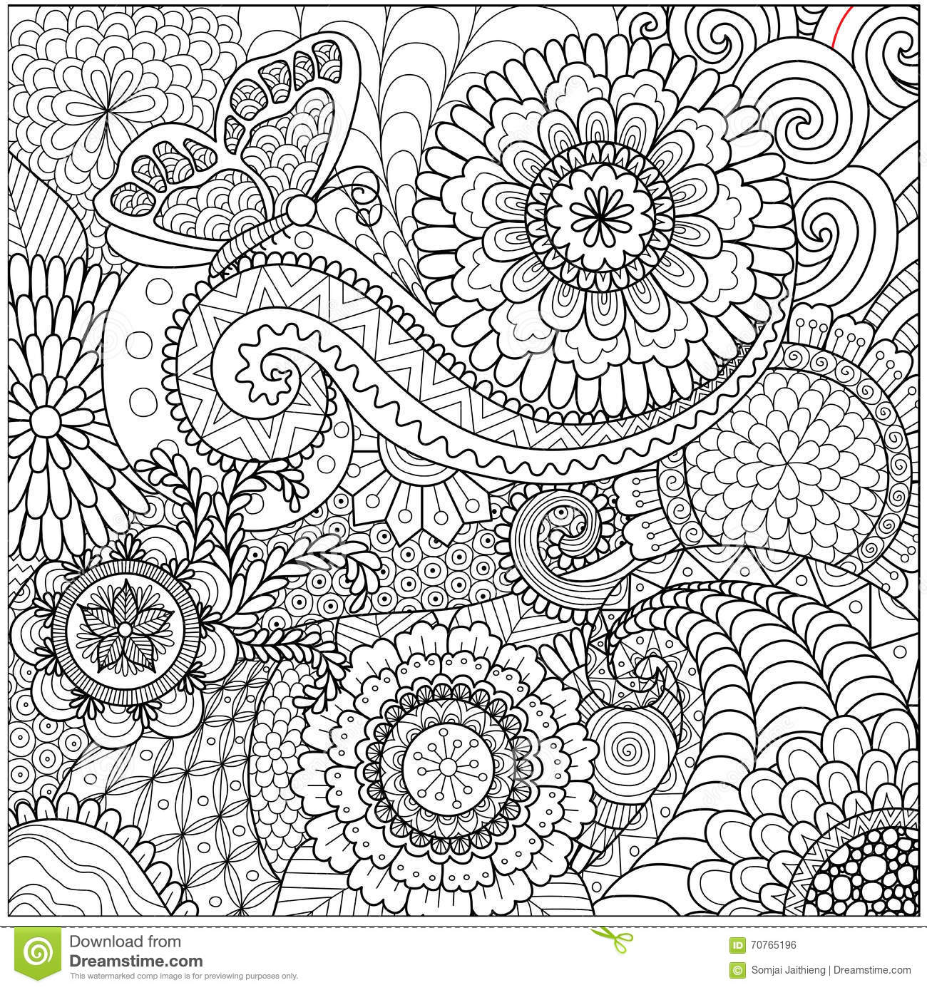 Coloring Pages Background Coloring Pages hand drawn zentangle floral background for coloring page stock page