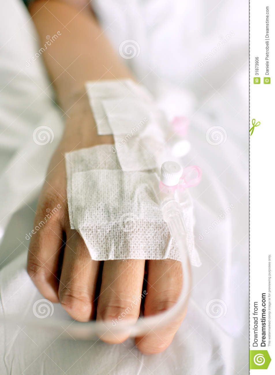 Hand With Drip In Hospital Royalty Free Stock Image - Image: 31873906