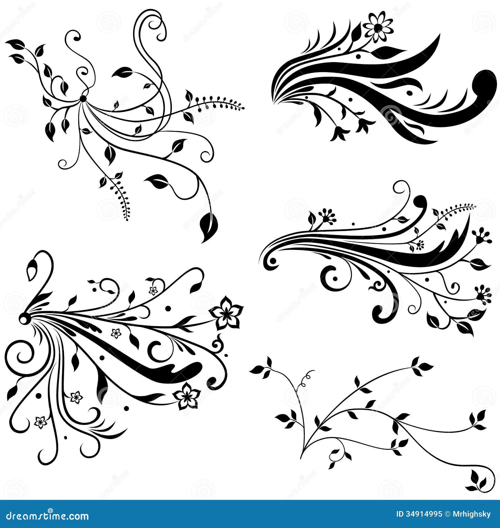 Hand drog blom best ndsdelar royaltyfri foto bild 34914995 - Wandtattoo hinter fernseher ...