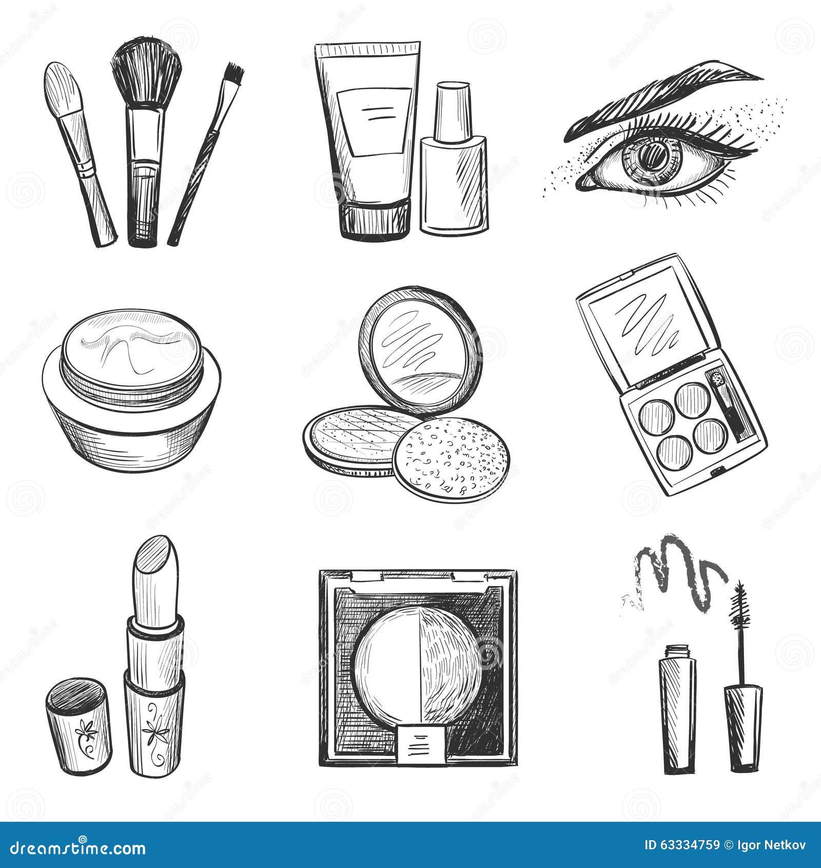 Hand drog makeupsymboler