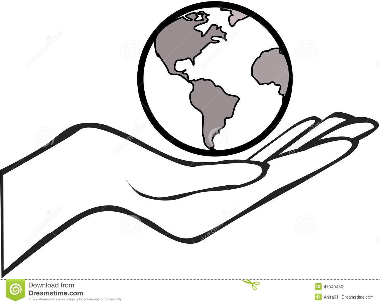 planet earth clipart black and white - photo #24