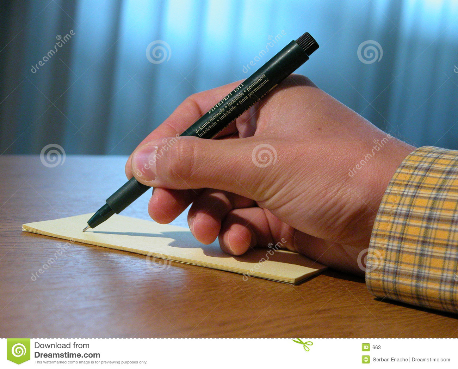 Hand en pen