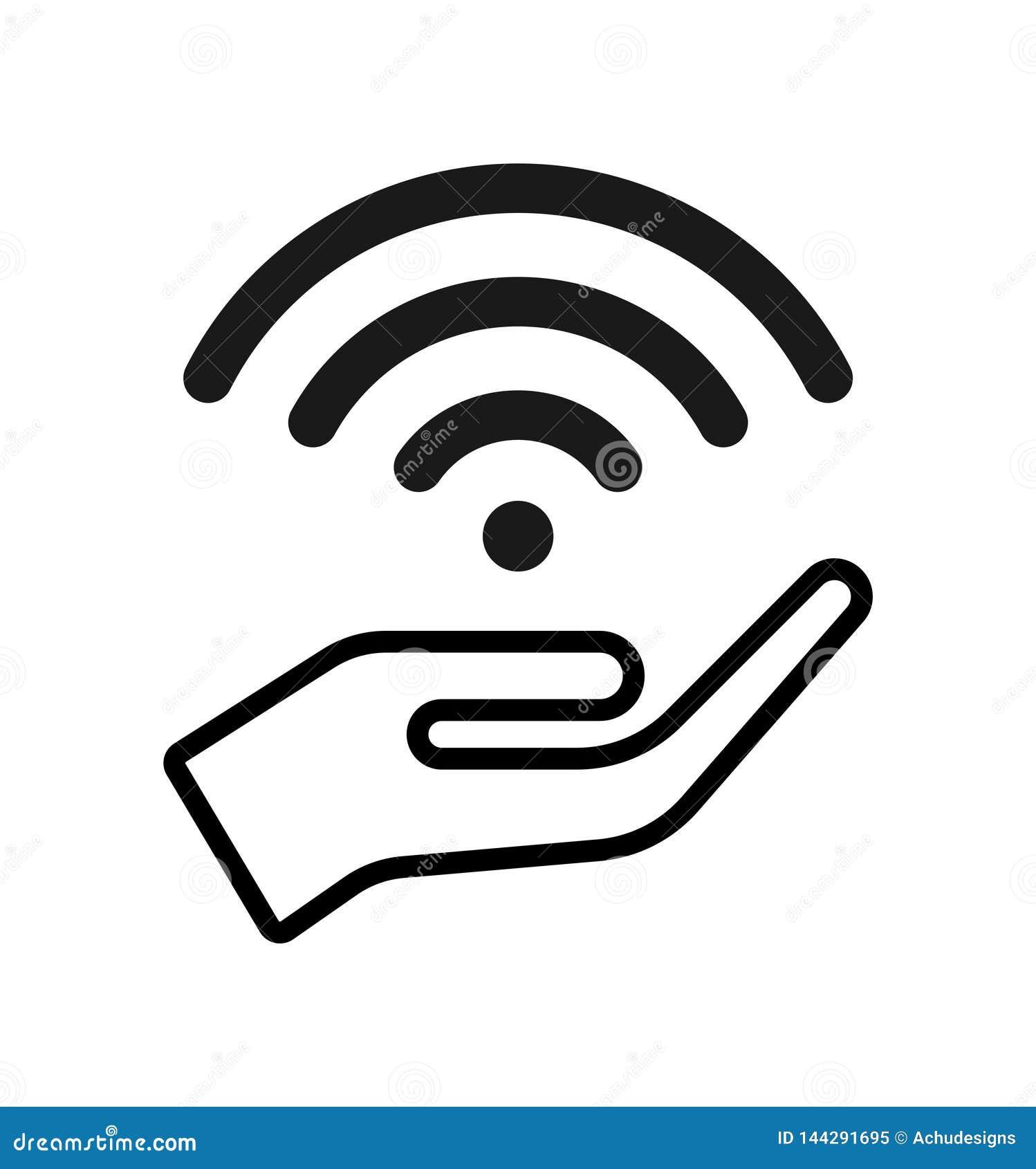 Hand en vrij wifipictogram