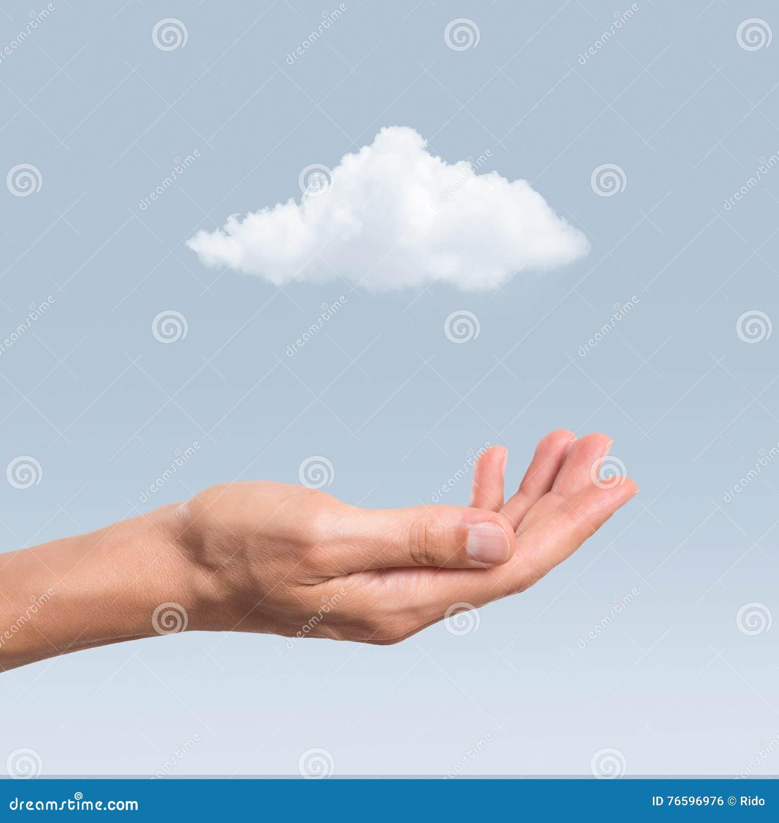 Hand en wolk