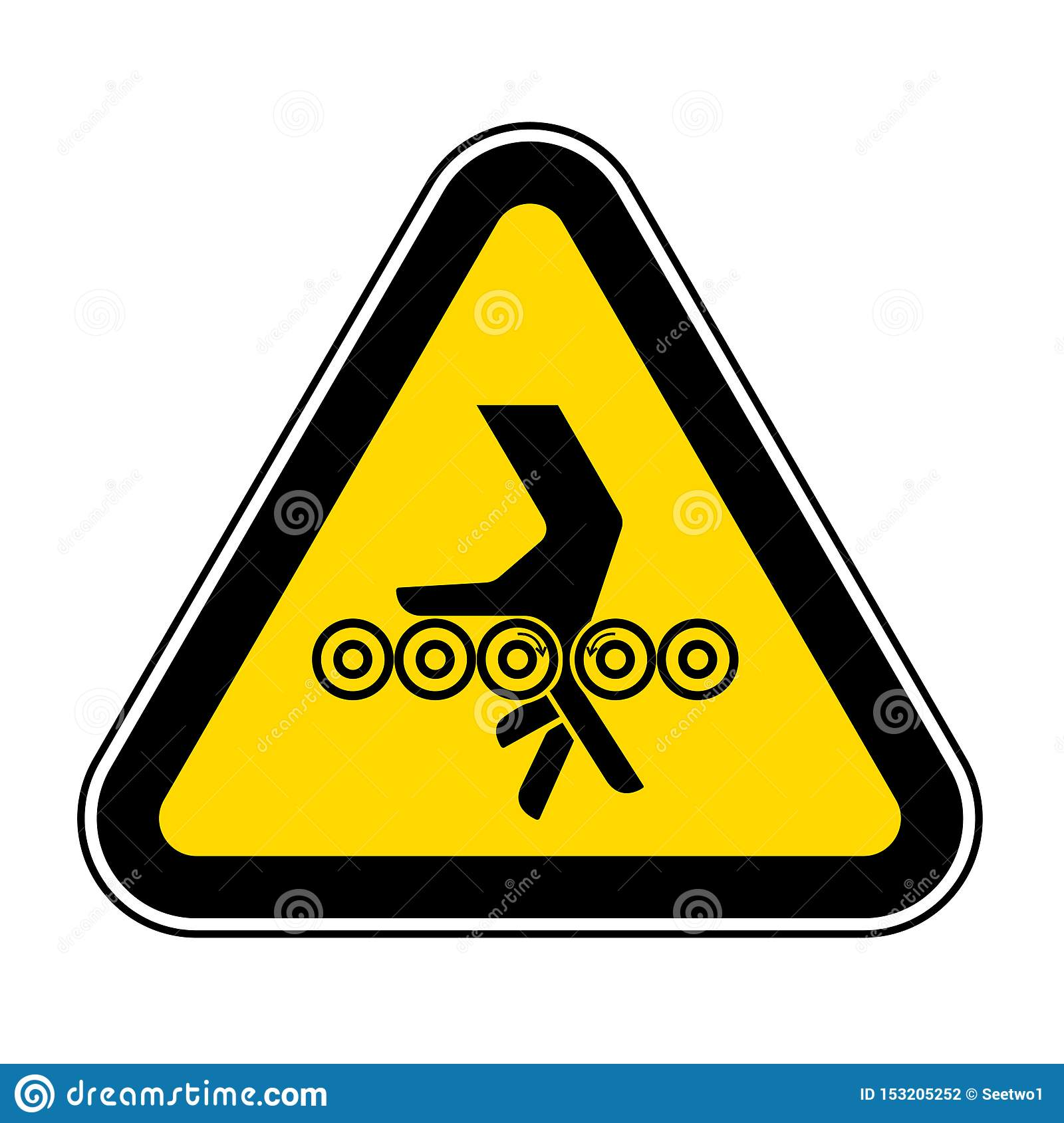 Hand Entanglement Rollers Symbol Sign, Vector Illustration, Isolate On White Background Label .EPS10