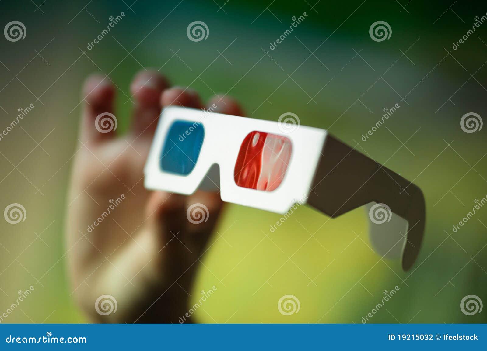 Hand för exponeringsglas 3d
