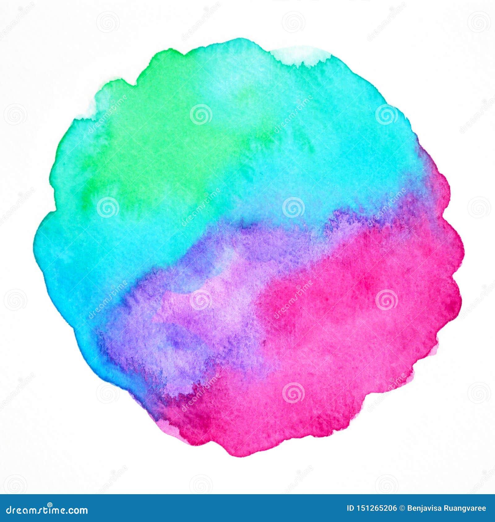 Hand för illustration för målning för vattenfärg för konst för abstrakt färgmakt som andlig drar bakgrund