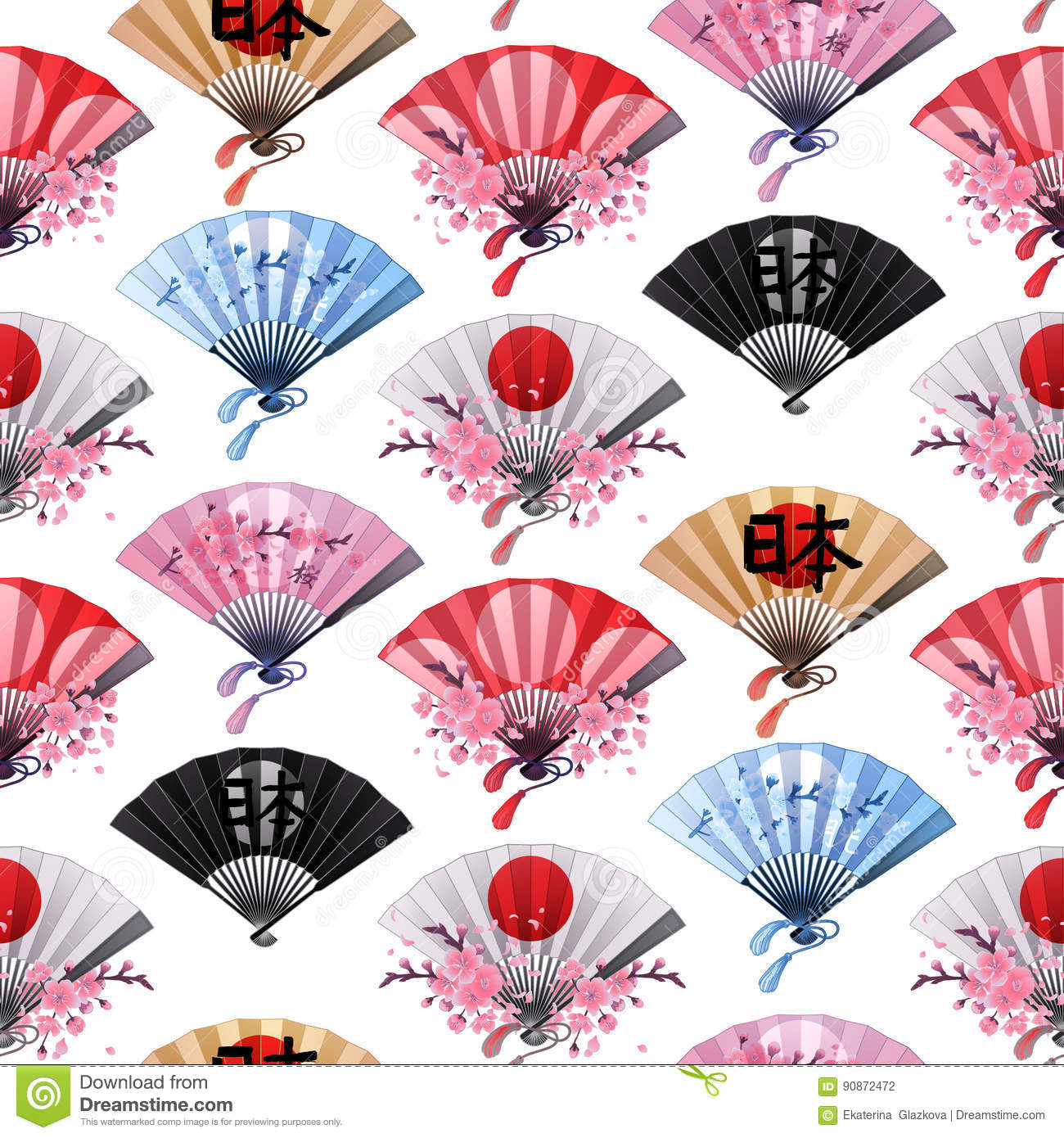 hand fan pattern stock vector  image of colorful  decor
