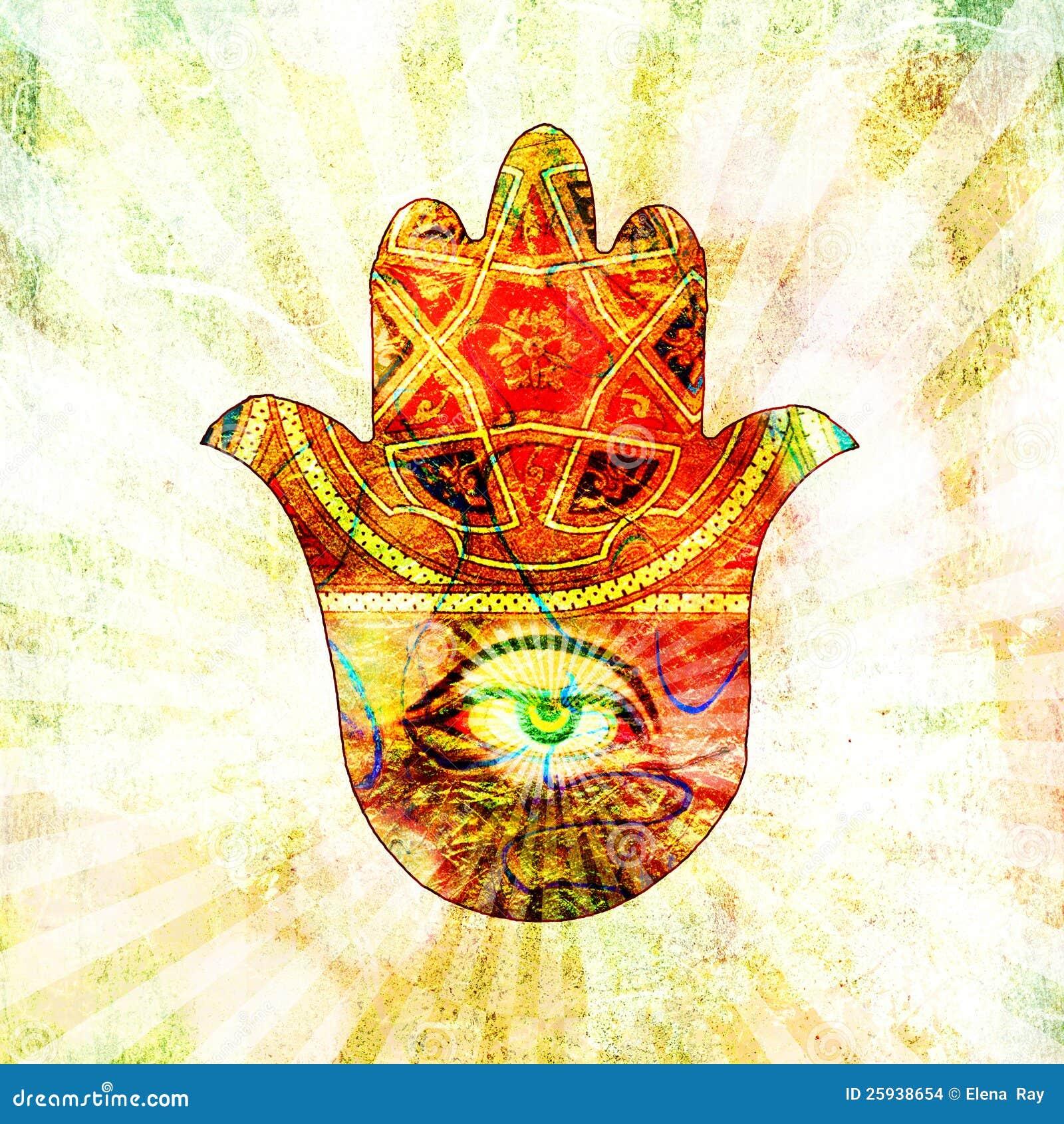Hand Of Fatima Stock Illustration Eastern