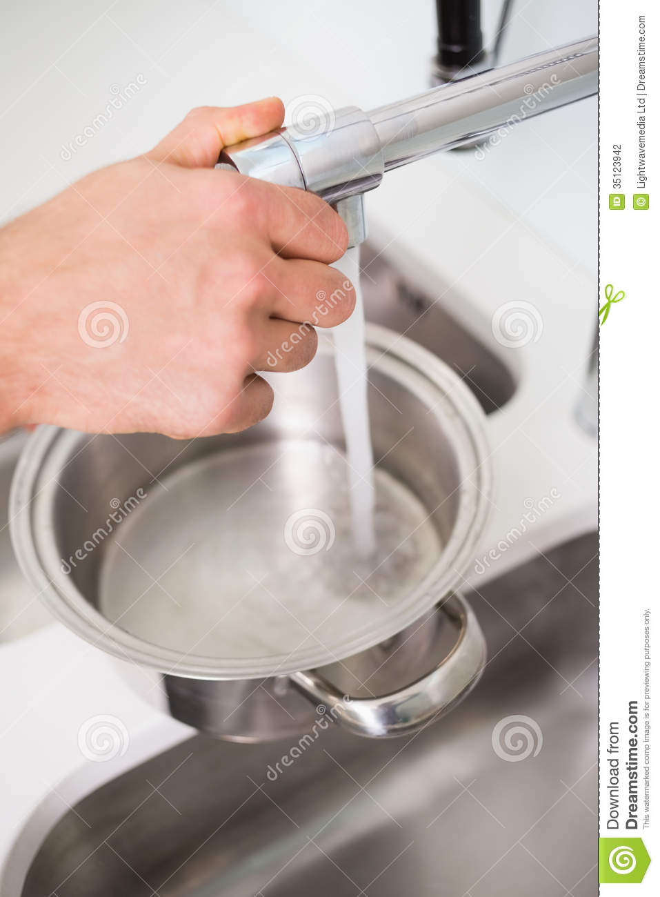 Kitchen Sink Filling Up With Water