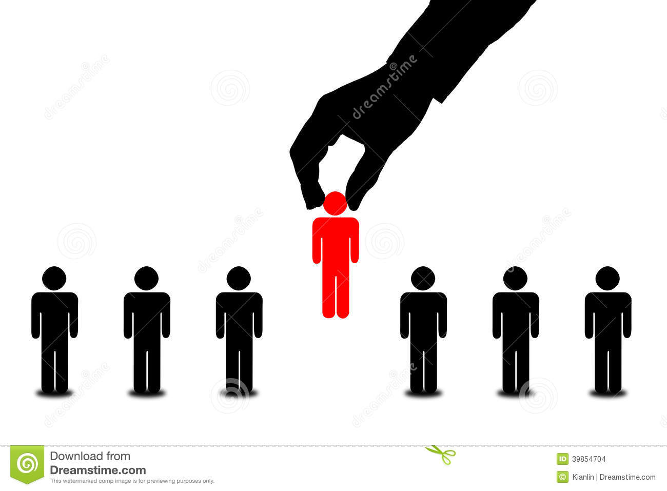 Hand Find Select Person In Line Of People Stock ...