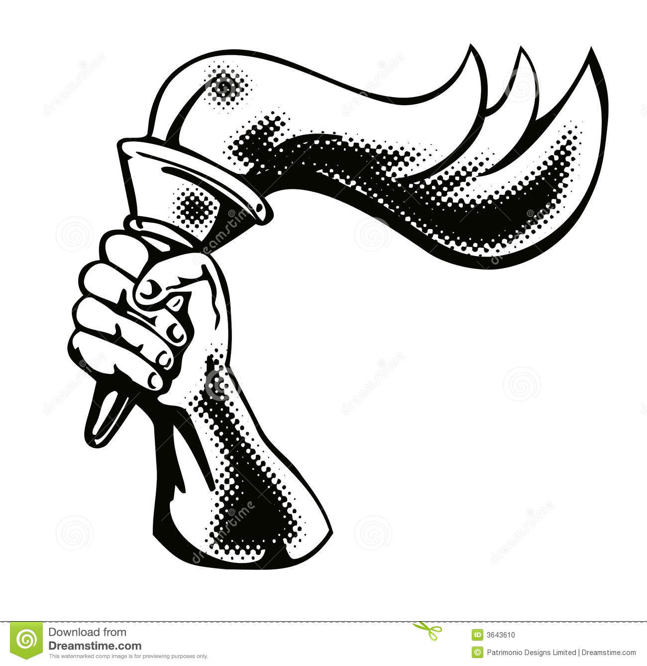 Hand with flaming torch stock vector. Illustration of flaming - 3643610 for fire torch in hand  570bof