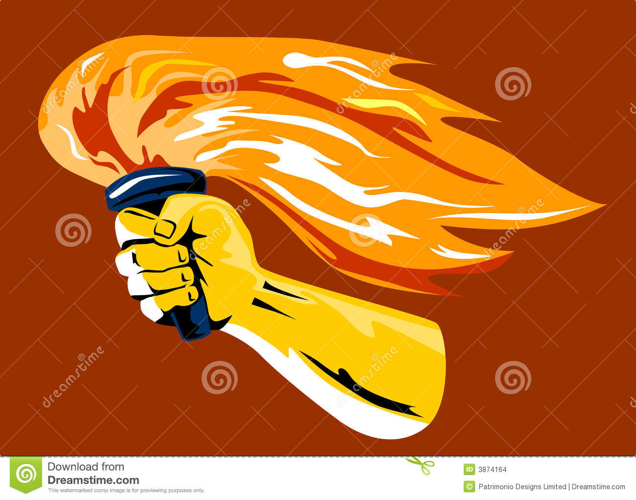 Hand With Flaming Torch Stock Images Image 3874164