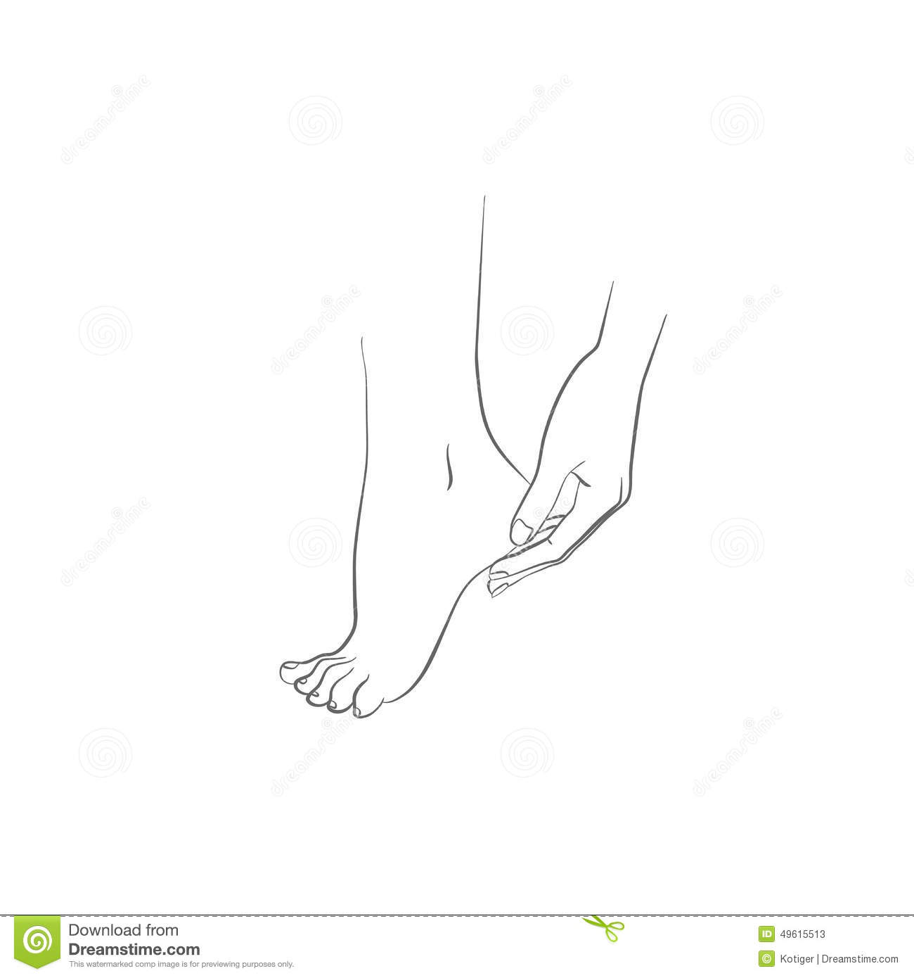 Hand And Foot, Body Care Vector Illustration Stock Vector ...